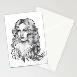 White morning Stationery Cards