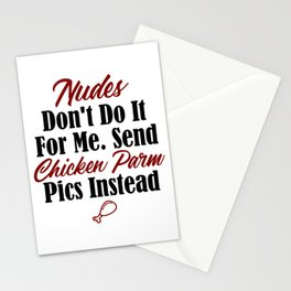 Funny Foodie Design No Nudes Just Chicken Parmesan Pictures Stationery Cards