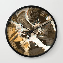 Folk vs. Metal Wall Clock