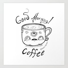 Good Morning Coffee 2 Art Print