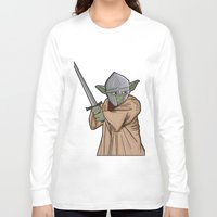 medieval Long Sleeve T-shirts featuring Yoda medieval  by  Steve Wade ( Swade)