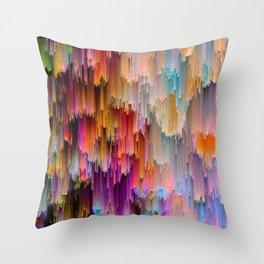 Light meets Dark Colorful Glitch Art Throw Pillow