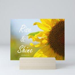 Rise and Shine Sunflower Mini Art Print