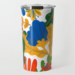 Tropical Flower Pattern II Travel Mug