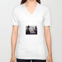 metropolis V-neck T-shirts featuring Metropolis by Kilian Guenthner