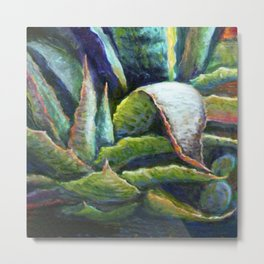 Agave Cactus Southwest Style Painting Metal Print
