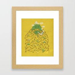 The Bearded City Framed Art Print