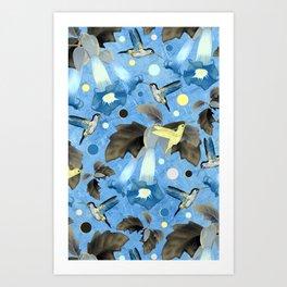 Colibri Bleu Art Print