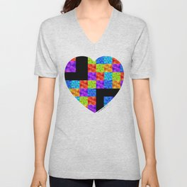 Love Colors The Heart by Sharon Cummings Unisex V-Neck