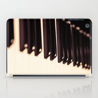 piano iPad Cases featuring piano by noirblanc777