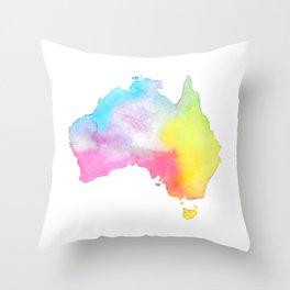 Australia | Map Illustration Throw Pillow