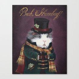 Guinea Pig Ebenezer Scrooge - Bah Humbug! Canvas Print