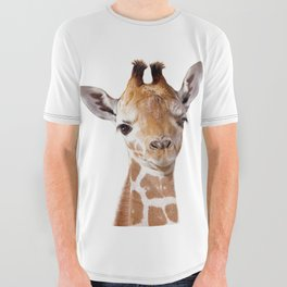 Baby Giraffe, Baby Animal Art Prints By Synplus All Over Graphic Tee
