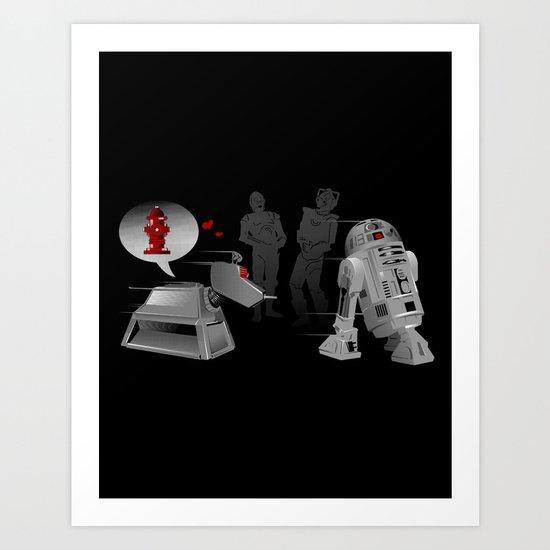 K9 love affair Art Print