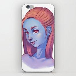 Blue Skin iPhone Skin