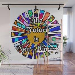 The Future is Non-Binary  Graffiti Sunrays Wall Mural