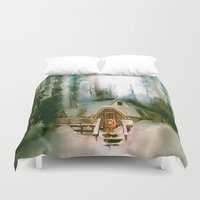hobbit Duvet Covers featuring HOBBIT HOUSE by FOXART  - JAY PATRICK FOX