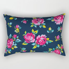 Raspberry Roses Rectangular Pillow