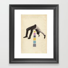 High Jump Framed Art Print