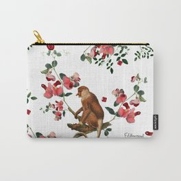 Monkey World: Nosy - White Carry-All Pouch