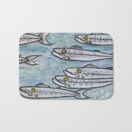 Barracuda! Little Fish with a ton of Attitude! Bath Mat