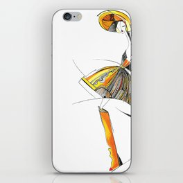 """""""The mystery of the orange hat""""  iPhone Skin"""