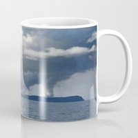 duvet cover Mugs featuring AMAZING CLOUD DUVET COVER by aztosaha