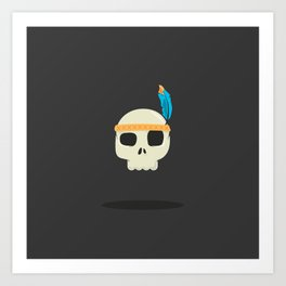 Native American Indian Warrior Art Print