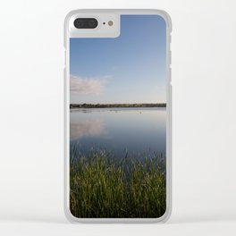 Reeds at the water's edge Clear iPhone Case