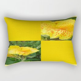 Yellow Canna Blank Design Rectangular Pillow