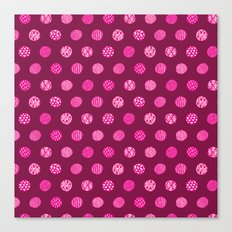 Patterned Dots Canvas Print