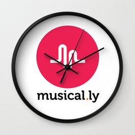 Musical.ly symbol Wall Clock
