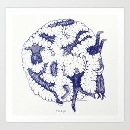 "We are in a Cotton Ball (8'x8"") Art Print"