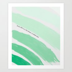 Every Plan is a Tiny Prayer to Father Time - Death Cab for Cutie Watercolor Rainbow Art Print