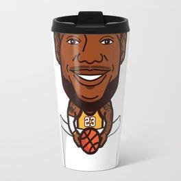 Cartoon LeBron in a pocket Travel Mug