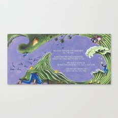 POEM OF MONSTERS Canvas Print
