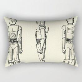 Robot C3PO-1979 Rectangular Pillow