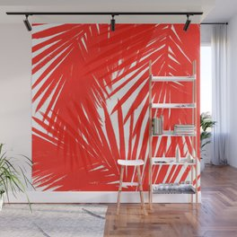 Palms Red Hot Wall Mural
