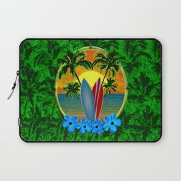 Sunset Surfboards And Palm Trees Laptop Sleeve