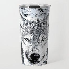 Forest Wolf Art Travel Mug