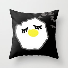 sleepy egg Throw Pillow