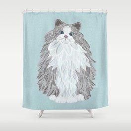 Aurora Ragdoll Shower Curtain