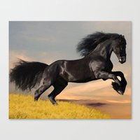 arabic Canvas Prints featuring Arabic horse by Ace of Spades