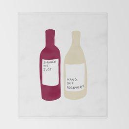 Love wine Throw Blanket