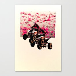 Flower Riders Canvas Print