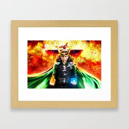 Loki - Ragnarok IV Eternal Flame Framed Art Print
