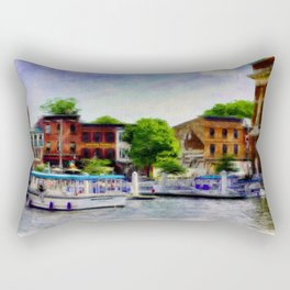 Fells Point Water Taxis, Nautical, Baltimore, Maryland  Rectangular Pillow