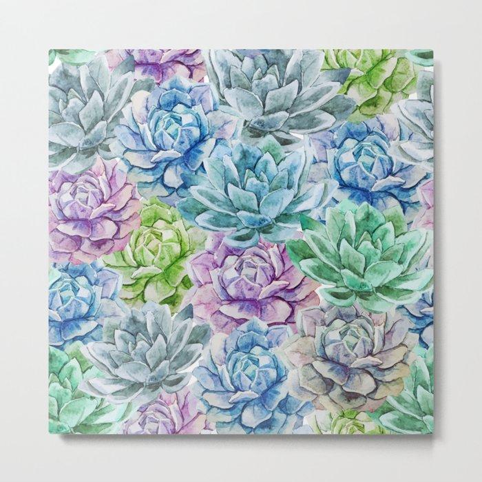 Cactus Pattern 16 Metal Print