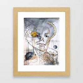 Exploding Stars Color Framed Art Print