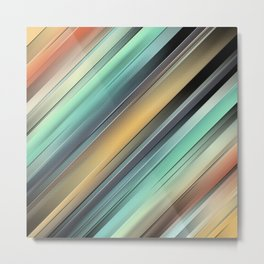 Layers of Colorful Stripes Metal Print